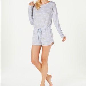 NWT Jenni Soft Printed Knit Pajama Romper Sz. S 🌈